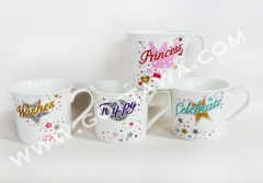8oz new bone china mug, bulk packing