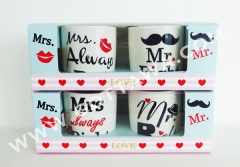2pcs new bone china mug with window box