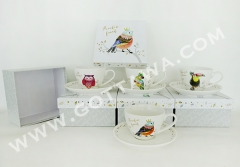 180cc new bone china cup and saucer with gift box