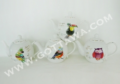 800cc new bone china tea pot with color box