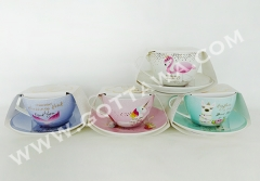 300cc new bone china cup and saucer, 1set/color sleeve