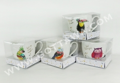 16oz new bone china mug with PVC box
